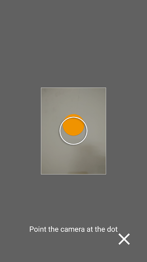 Follow the orange dots