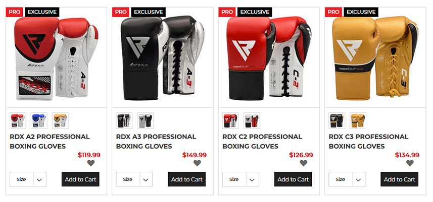 Boxing Competition Gloves