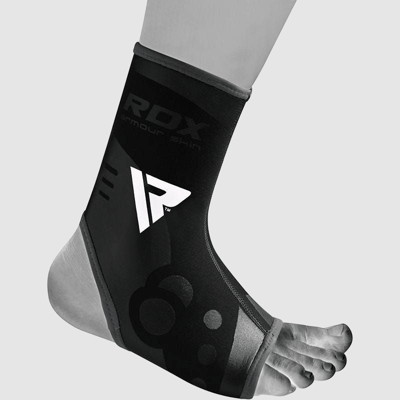 Wholesale Ankle Support Sprain Protection Compression Sleeve in Black & Grey Neoprene Bulk Manufacturer Supplier UK Europe USA