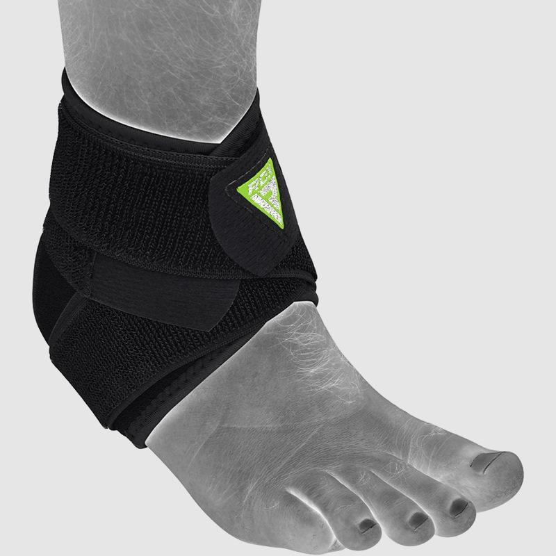 Großhandel Triple Strap Verstellbare Knöchelschiene zum Schutz vor Verstauchungen in schwarzem Neopren Massenware Hersteller Lieferant UK Europa USA