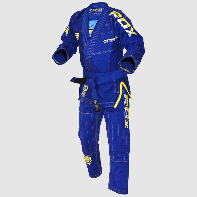 Atacado Algodão Azul BJJ Gi Brazilian Jiu Jitsu Kimono Uniform A0 A1 A2 A3 A4 Fornecedor & Fabricante UK Europa USA