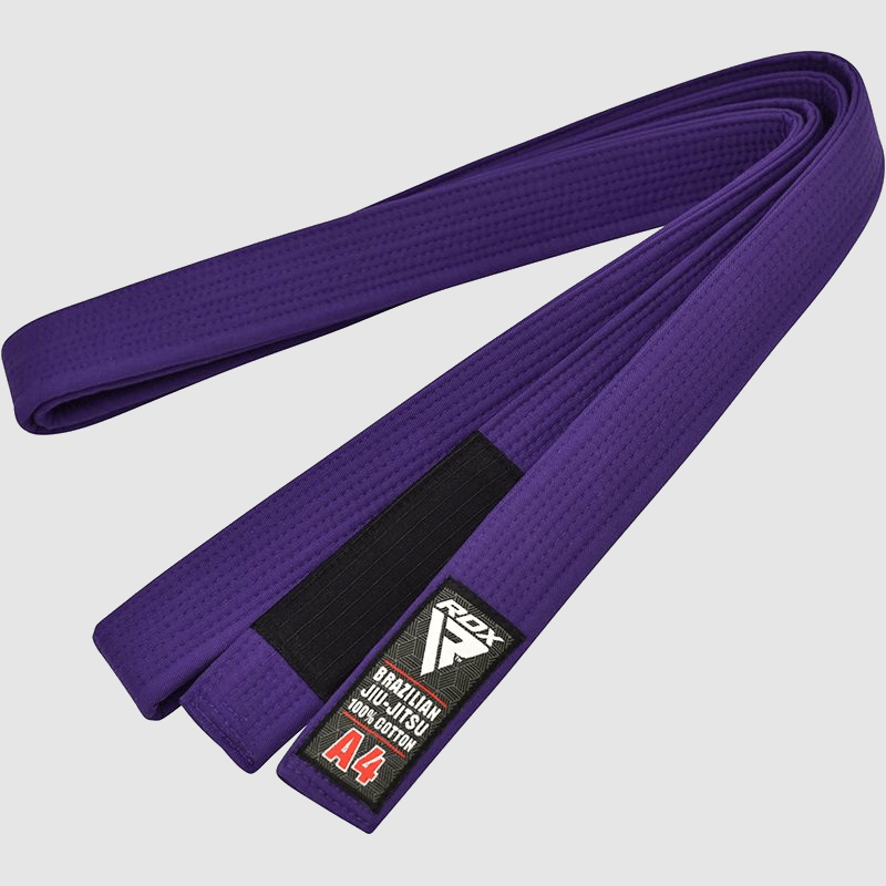 Wholesale Purple Cotton BJJ Gi Brazilian Jiu Jitsu Belt A0 A1 A2 A3 A4 Manufacturer Supplier UK Europe
