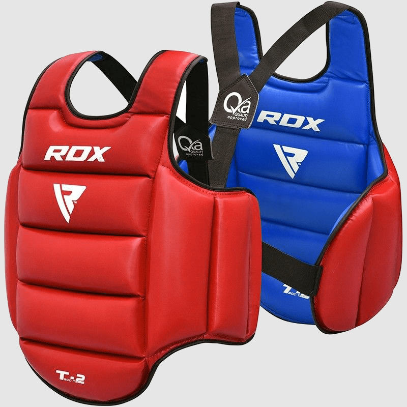 Wholesale Taekwondo Body Protector Padded Chest Guard in Red / Blue PU Leather Bulk Manufacturer Supplier UK Europe