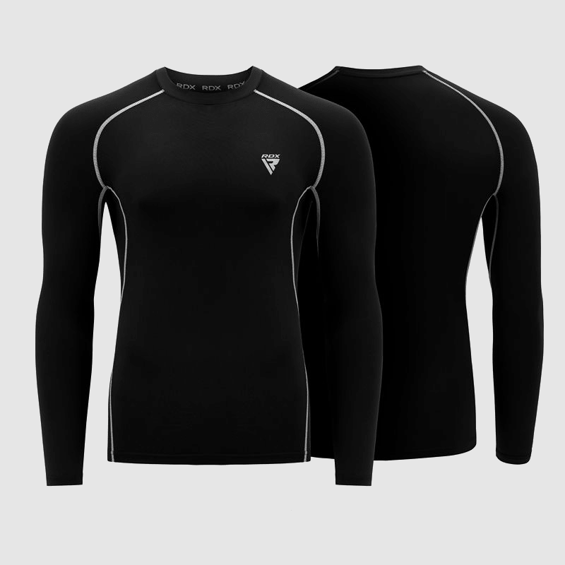 Wholesale Compression Top Rash Guard Shirt Full Sleeves Shirt for Gym Workout in Black Manufacturer & Bulk Supplier UK Europe USA