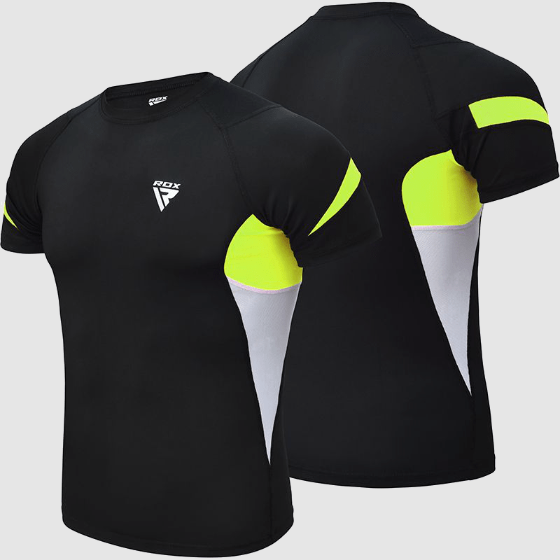 Wholesale Compression Short Sleeves Top Rash Guard in Green Neoprene Manufacturer & Bulk Supplier UK Europe USA