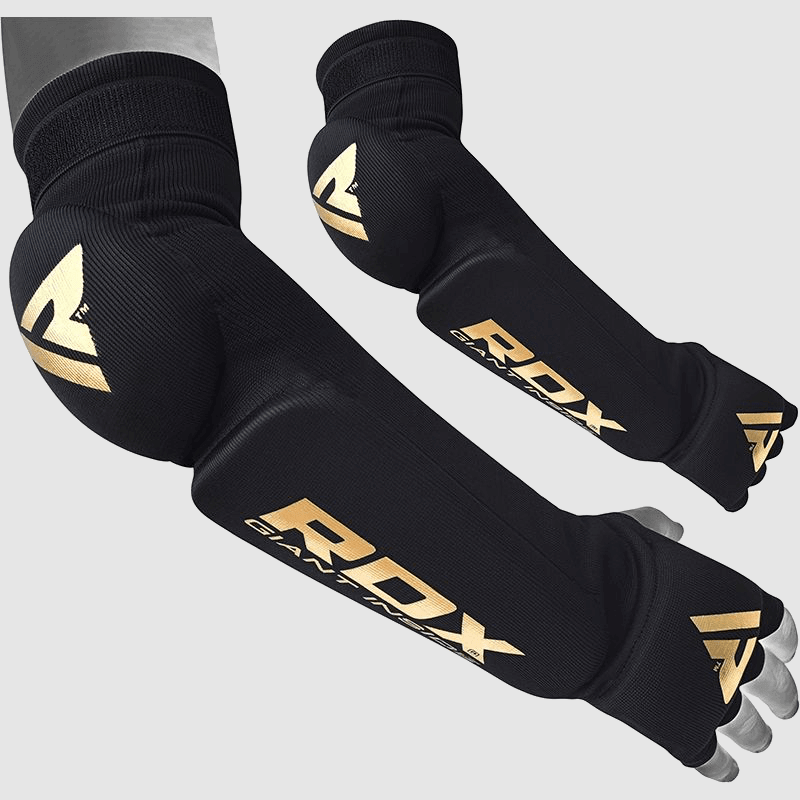 Wholesale Muay Thai, MMA Training Elbow, Forearm Guards Padded Sleeve in Black Hosiery Manufacturer & Bulk Supplier UK Europe USA