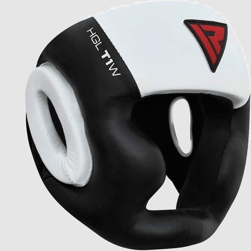 Vente en gros de casques ouverts en noir et blanc protection des joues en cuir Boxe MMA Fournisseur Fabricant UK Europe USA