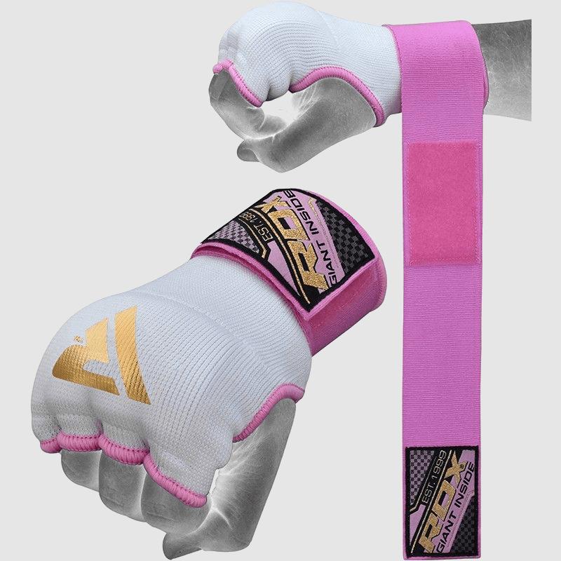 Опт женские 75см бокс ММА внутренние перчатки длинные ремни розовые трикотаж производитель поставщик Великобритания Европа
