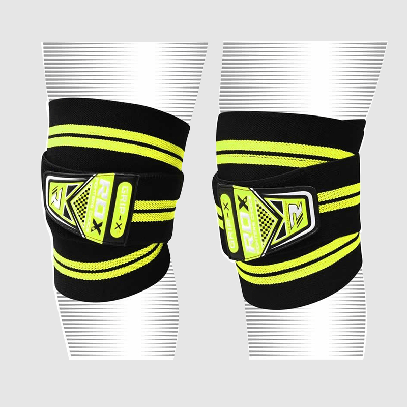 Wholesale Green Cotton Adjustable Elasticated Knee Wraps Manufacturer Supplier UK Europe