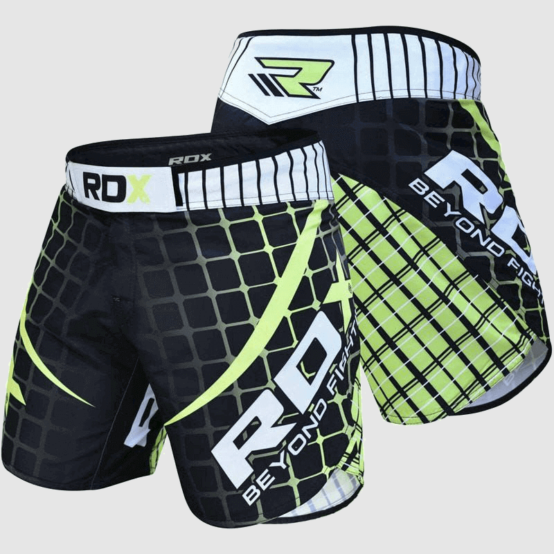 Wholesale MMA Fight Shorts in Green / White / Black Polyester Manufacturer & Bulk Supplier UK Europe USA
