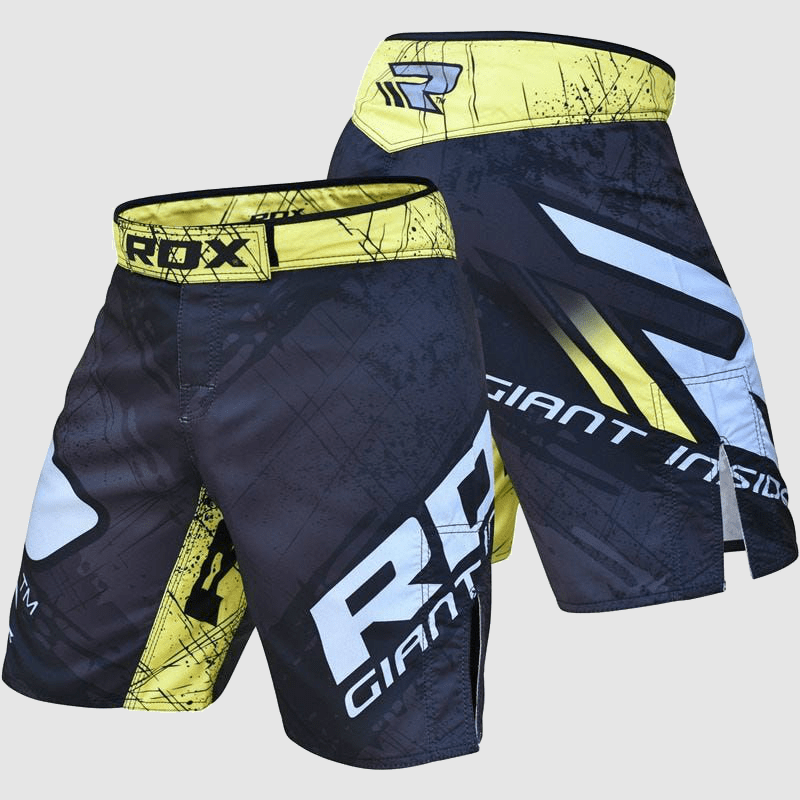 Atacado MMA Fight & Training Shorts in Blue / Yellow Polyester Fabricante & Fornecedor  Supplier UK Europa EUA