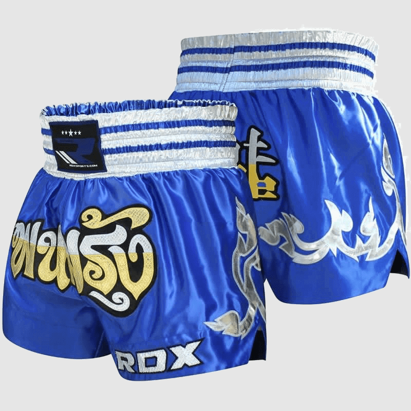 Wholesale Satin Muay Thai Fight & Training Shorts in Blue Manufacturer & Bulk Supplier UK Europe USA