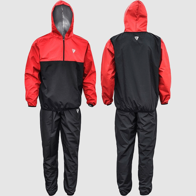 Wholesale Nylon Hooded Weight Loss & Sauna Sweat Suit in Red Manufacturer & Bulk Supplier UK Europe USA