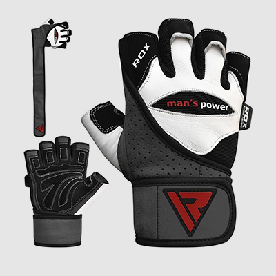 Wholesale Bodybuilding Gym Glove with Long Strap Made of Cowhide Leather Manufacturer Supplier UK