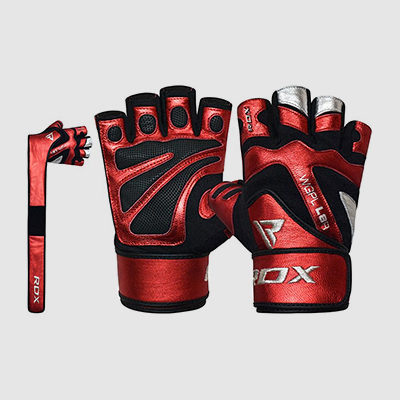 Wholesale Leather Gym Gloves with Long Wrist Support Strap Manufacturer Supplier UK