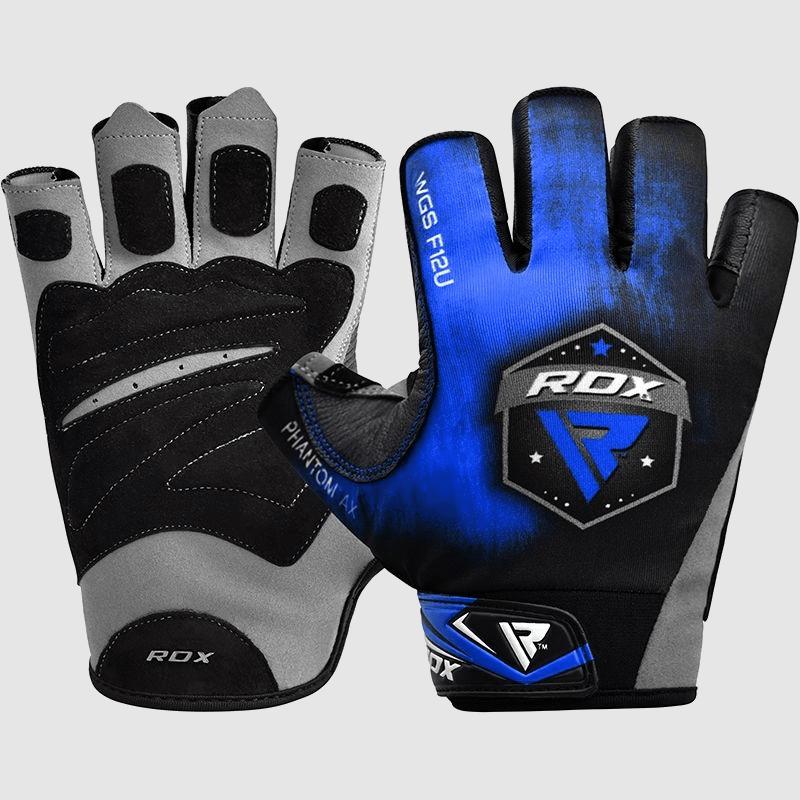 Wholesale Blue Half Finger Gym Workout Weightlifting Fitness Workout Gloves Manufacturer Supplier UK Europe