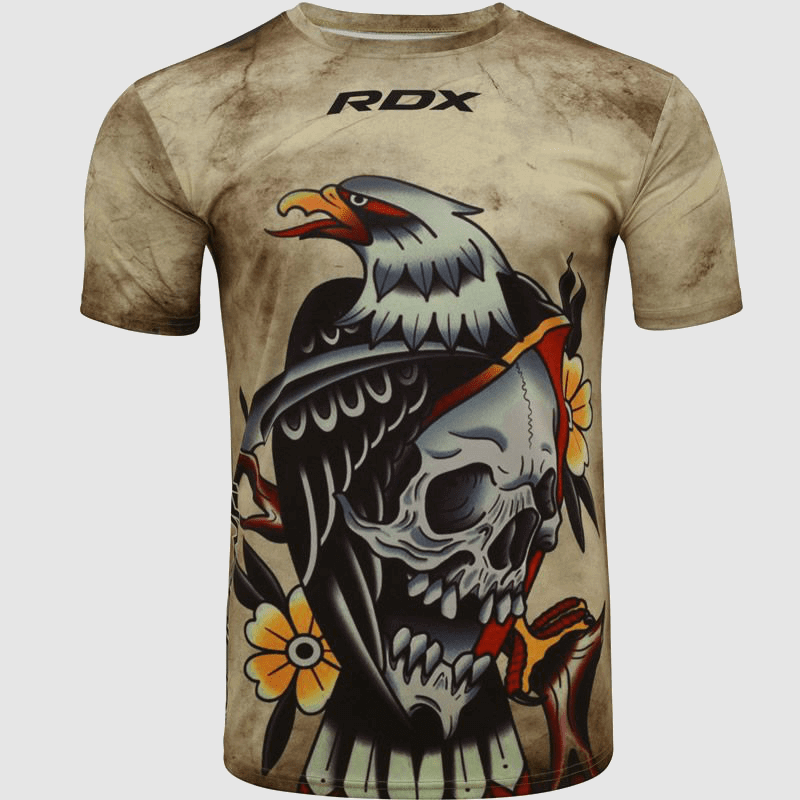 Großhandel Moschusbraune Tattoo Polyester Kurzarm T-Shirt Hersteller & Großhändler UK Europa USA