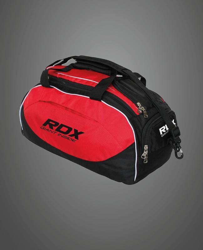 Großhandelsmenge Rot & Schwarz Boxen Duffle Taschen mit Rucksackriemen Hersteller Lieferant UK Europa
