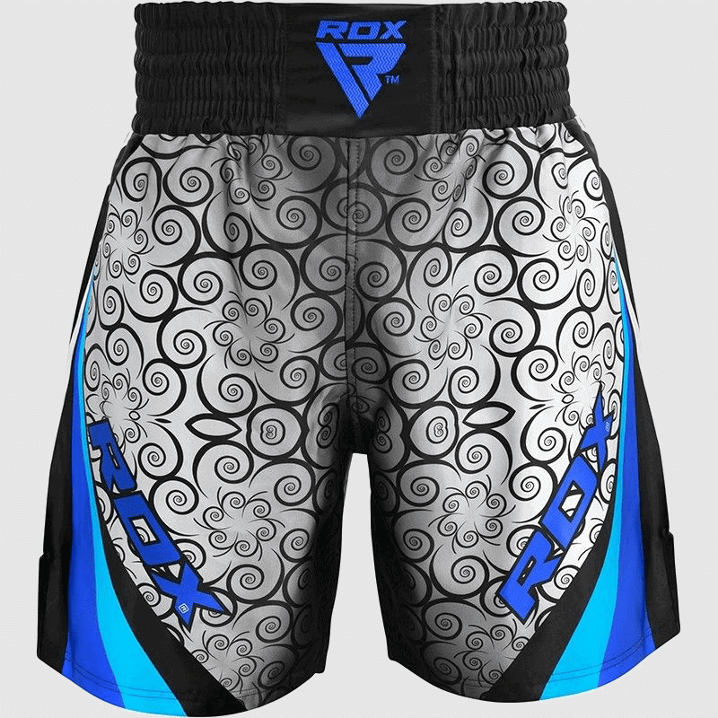 Wholesale Polyester Boxing Training & Fighting Shorts in Blue / Grey / Black Manufacturer & Bulk Supplier UK Europe USA