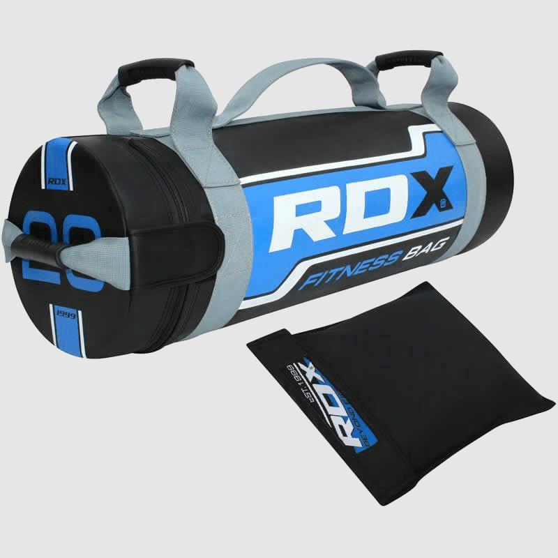 Fabricante y proveedor de sacos de arena para entrenamiento de fuerza de 20 kg en azul y negro al por mayor en Europa y el Reino Unido.
