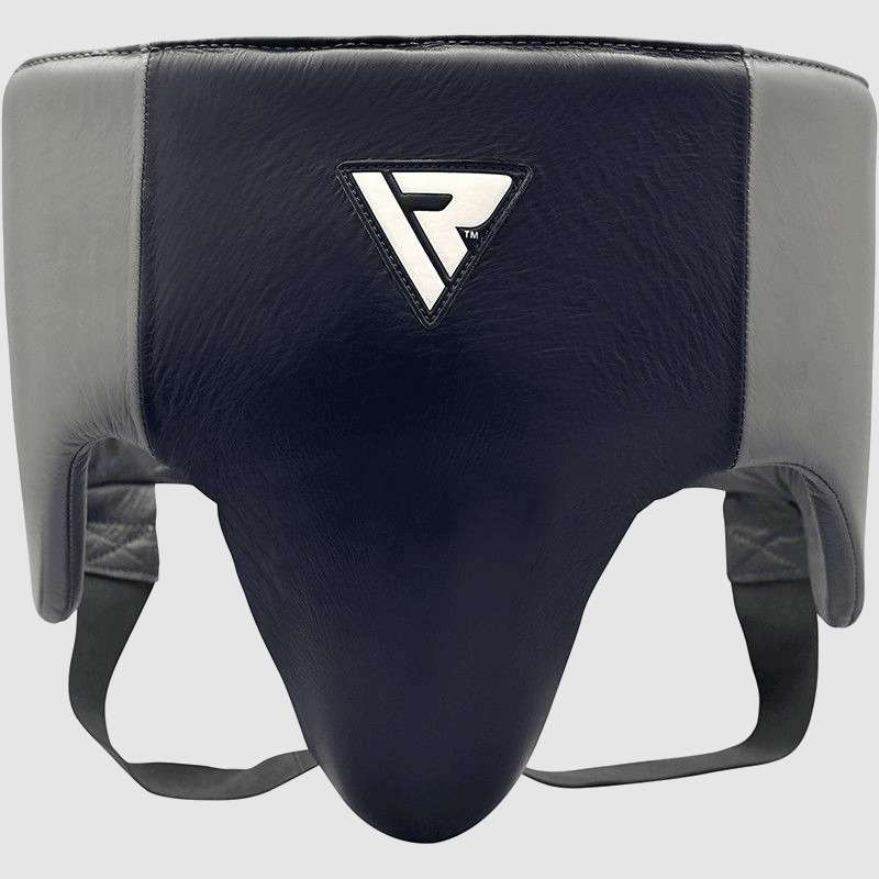 Wholesale Pro Abdominal Guard Protector for Boxing MMA Coaches Trainers in Blue / Grey Authentic Leather Bulk Manufacturer Supplier UK Europe USA
