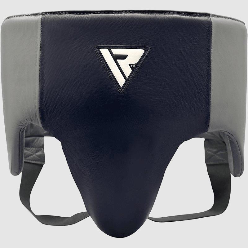 Großhandel Pro Abdominal Guard Protector für Boxen MMA-Trainer Trainer Trainer in blau / grau Authentic Leather Bulk Hersteller Lieferant UK Europa USA