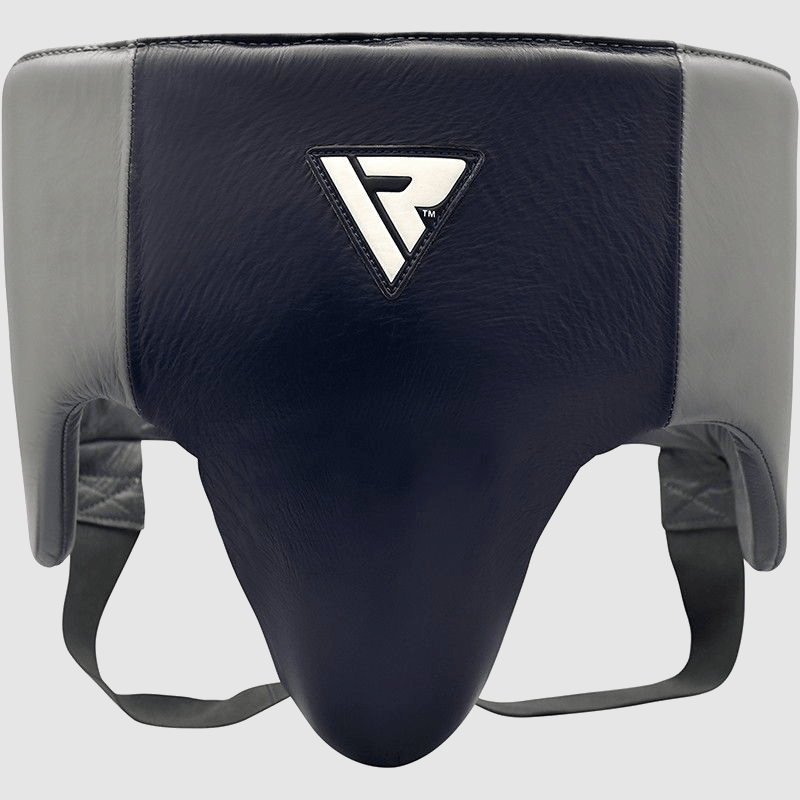 Wholesale Pro Abdominal Guard Protector for Boxing MMA Coaches Trainers in Blue / Grey Authentic Leather Bulk Manufacturer Supplier UK Europe