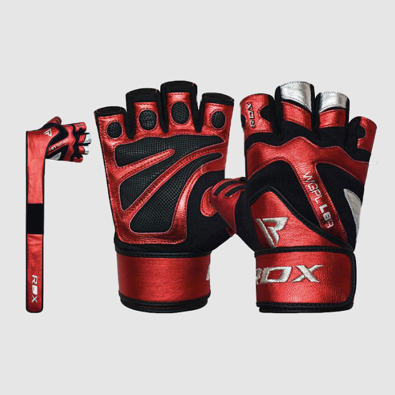 Wholesale Leather Gym Gloves with Long Wrist Support Strap Bulk Supplier & Manufacturer UK Europe USA