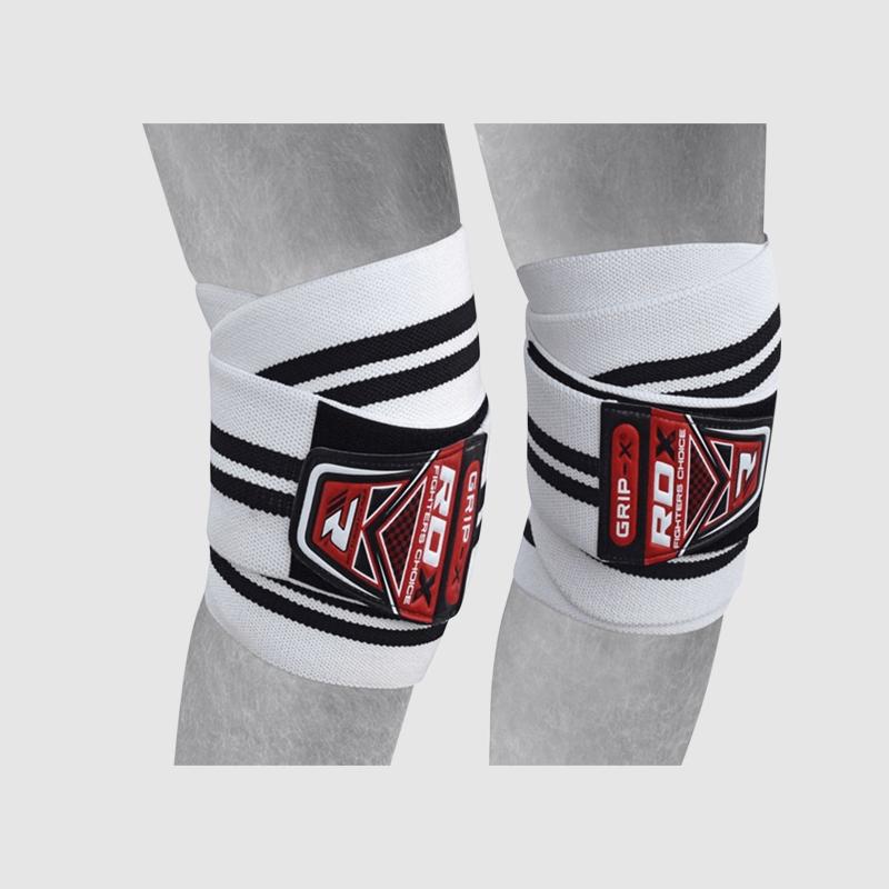 Wholesale White & Black Cotton Adjustable Elasticated Knee Compression Bandage Wraps Manufacturer Supplier UK Europe