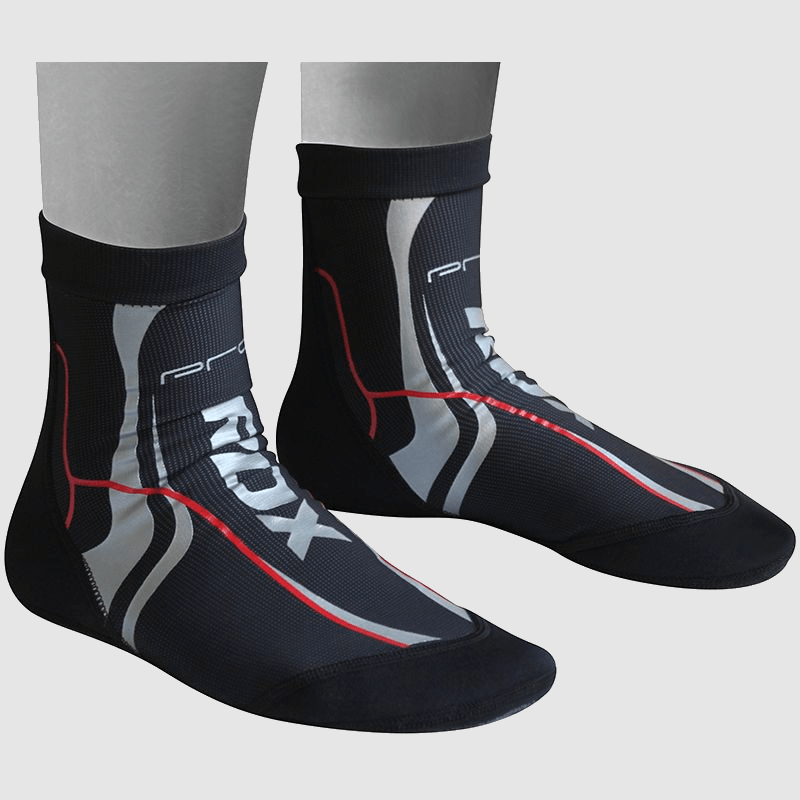 Wholesale Barefoot MMA Training Socks with Silicone Dotted Anti-Slip Grip in Black Neoprene Bulk Manufacturer Supplier UK Europe USA