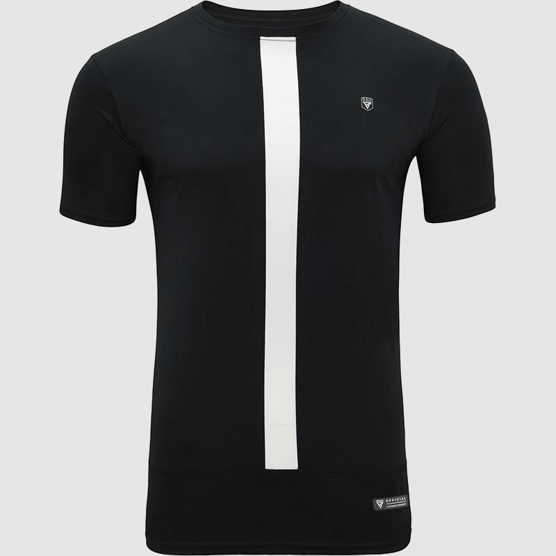 Wholesale Polyester Half Sleeves Sweat-Wicking Workout Gym T-Shirt Black & White Manufacturer & Bulk Supplier UK Europe USA