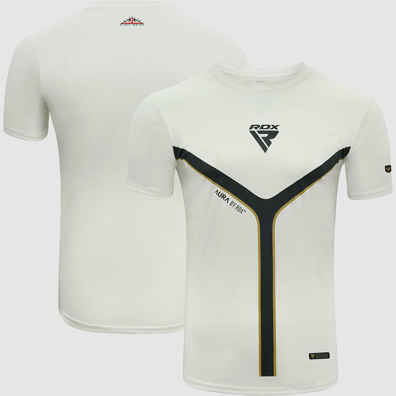 Wholesale Short Sleeves Sweat-Wicking Workout Gym T-Shirt in Polyester White Manufacturer & Bulk Supplier UK Europe USA