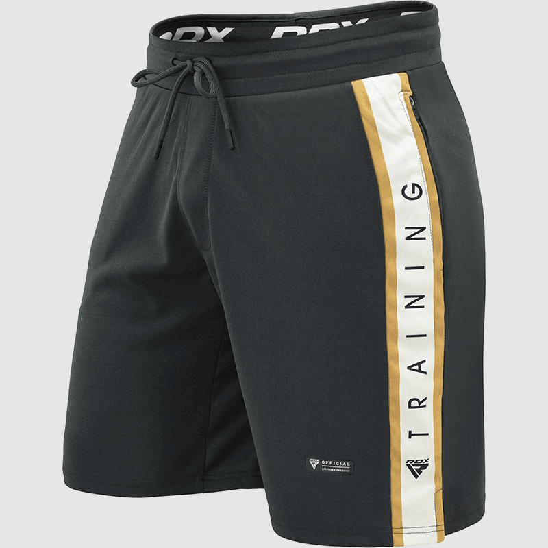 Wholesale Polyester Boxing Training Shorts in Pearl Grey / White / Golden Manufacturer & Bulk Supplier UK Europe USA