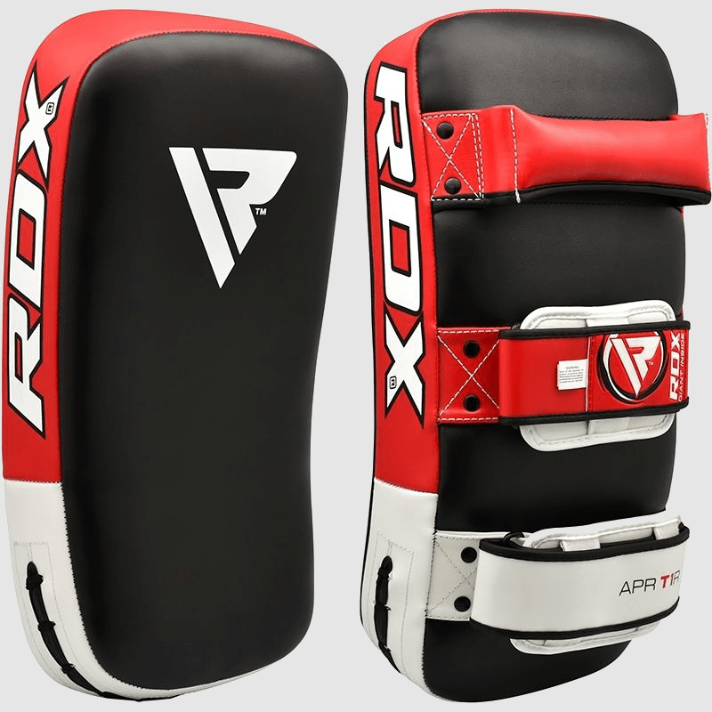 Wholesale Maya Hide Muay Thai Training Gel Padded Kicking Pad in Red Manufacturer & Bulk Supplier UK Europe USA